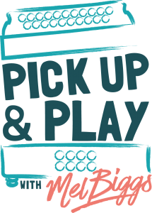 Pick Up & Play with Mel Biggs logo